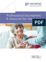 Professional Boundaries a Resource for Managers