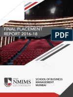 Nmims Sbm Final Placement Report 2016 18
