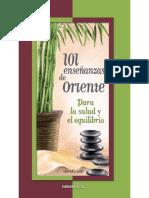 LUJAN MENDEZ D. 101 Enseñanzas de Oriente Para La Salud y El Equilibrio, 2009