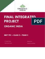 FIP Organic India MKT 701 Class 2 Team-5