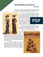 Cum Se Îmbrăcau Femeile Romanii Acum 100 de Ani