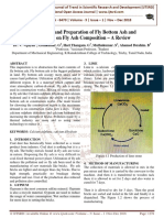 Investigaton and Preparation of Fly Bottom Ash and Discussion on Fly Ash Composition - A Review