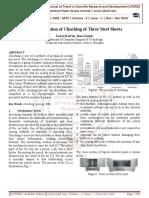 FEM Simulation of Clinching of Three Steel Sheets