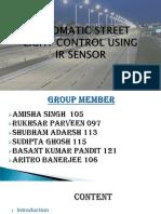 Automatic Street Light Control using IR sensor