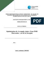 Optimisation de  la supply chain  d'une PME Marocaine  cas de la Socopim.PDF