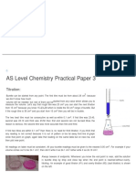 As Level Chemistry Practical Paper 3 _ GCE Guide