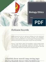 Biology Ethic Ppt