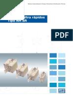 WEG Fusibles Ultra Rapidos Tipo NH Catalogo Espanol