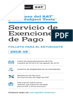 PDF Sat Fee Waiver Student Brochure Spanish