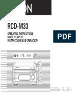 DENON RCD M33. Mando Distancia