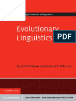 [Cambridge Textbooks in Linguistics] April McMahon, Robert McMahon - Evolutionary Linguistics (2012, Cambridge University Press).pdf