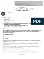 U.S. Navy Office of Naval Intelligence Worldwide Threat to Shipping (WTS) Report 13 March - 17 April 2019