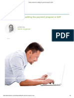 3 Data Analyses for Auditing the Payment Program in SAP