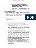 CoPE (Recruitment, Seniority and Promotions) Regulations, 2010