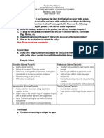 Policy Making Alternative Learning Activity