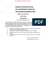 Corrigendum of Calcutta Port Trust Employees (Classification, Control and Appeal) 4th. Amendment Regulation, 2006