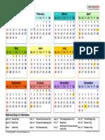 2018 Calendar Landscape Hesti Letter