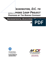 Washington, D.C. to Baltimore Loop ProjectProposed by The Boring Company Environmental Assessment (Draft)
