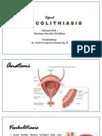 Mini Referat Vesicolithiasis