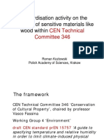 Standardisation activity on the protection of sensitive materials like wood