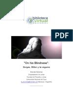 54. on His Blindness, Borges, Milton y La Ceguera - Sánchez, Brenda