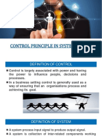 Control Principle in System Design