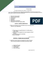 MBA Sample Test (36 Credits)