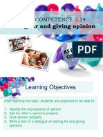 001. Basic Competence 3.14 - Asking for and Giving Opinion