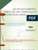 Movimiento lineal de una particula Ppt