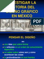 INVESTIGAR LA HISTORIA DEL DISEÑO GRÁFICO EN MÉXICO