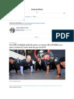Em 2018, letalidade policial custou, ao menos, R$ 4,56 bilhões ao país