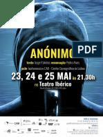 Flyer Anónimo maio