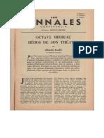 Gérard Bauër, « Octave Mirbeau, héros de son théâtre »