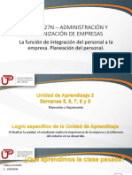 2018-3-8 OCTAVA SEMANA_La Función de Integración Del Personal a La Empresa. Planeación Del Personal.