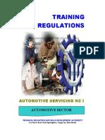 TR - Automotive Servicing NC I(Superseded)