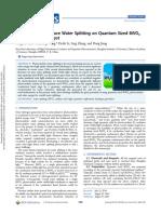 Solar Light Driven Pure Water Splitting on Quantum Sized BiVO4