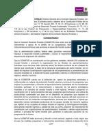 Lineamientos Del Programa de Fomento a La Organización Social Planeación y Desarrollo Regional Forestal