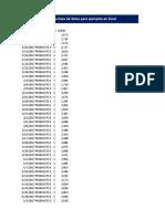 VIDEO 178 - Armando Una Base de Datos Para Ejemplos en Excel