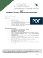 Anexo 1 Puntos Mínimos Para La Elaboración de Propuestas Técnicas de Proyectos Especiales