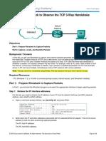 9.2.1.6 Lab - Using Wireshark to Observe the TCP 3-Way Handshake.pdf
