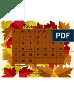 Activity November 2010 Leaves