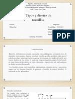 Tipos y Diseño de Tornillo