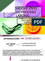 1) La Oralidad en El Nuevo Proceso Laboral