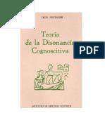 Festinger Leon - Teoria de La Disonancia Cognoscitiva