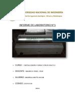 Informe de Cristalografia