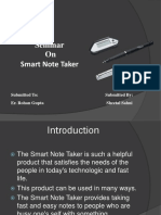 Smart Note Taker PPT