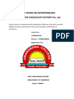 project on chocolate industry