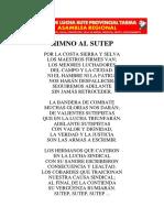 Himno Del Sutep