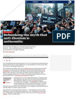 Debunking the Myth That Anti-Zionism is Antisemitic, by Peter Beinart (The Guardian)