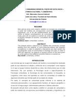 Causse - Concepto de Comunidad Desde El Punto de Vista Sociocultural, Historico y Linguistico